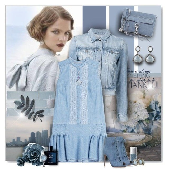 """Sky blue"" by perla57 ❤ liked on Polyvore featuring 3x1, Merola, Ermanno Scervino, Christian Dior, Sheryl Lowe, Gianvito Rossi, Rebecca Minkoff, Bavna, Allurez and Poppy Jewellery"