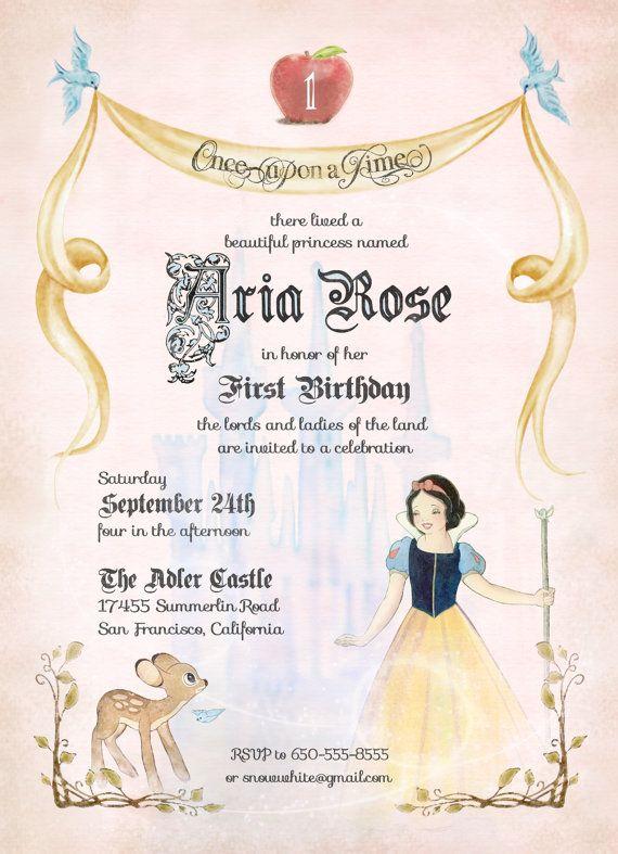 Vintage Fairytale Woodland Snow White Birthday by dSignsAllKinds