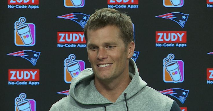 Patriots quarterback Tom Brady addresses the media during his press conference at Gillette Stadium on Tuesday, October 3, 2017.