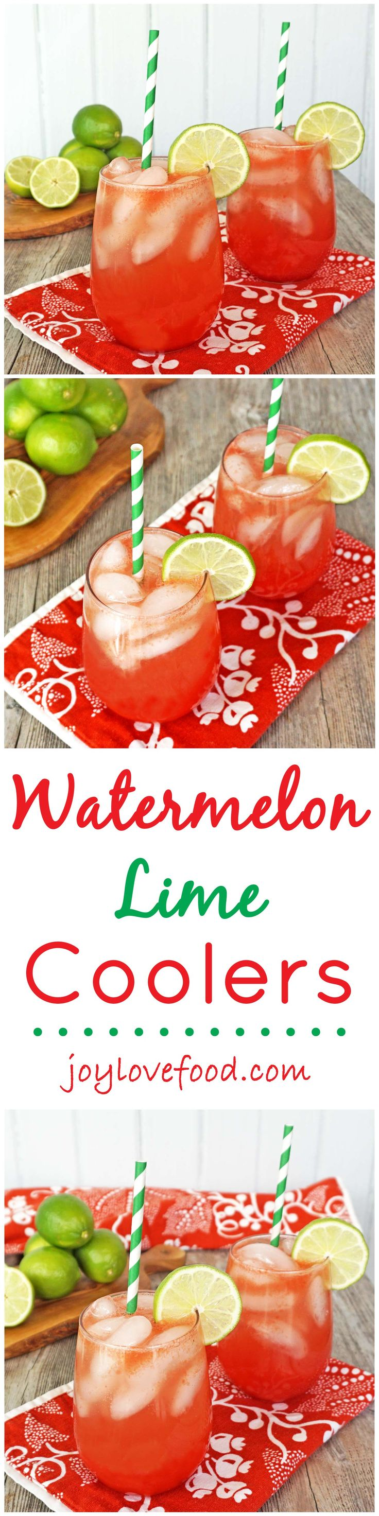 Watermelon Lime Coolers - these light and refreshing coolers are perfect for anytime you'd like some bright and cheerful refreshment.
