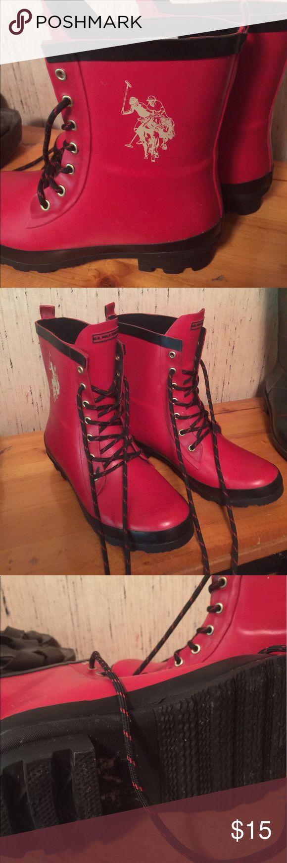 Ralp Lauren rain boots Red and in GREAT condition! Lauren Ralph Lauren Shoes Winter & Rain Boots