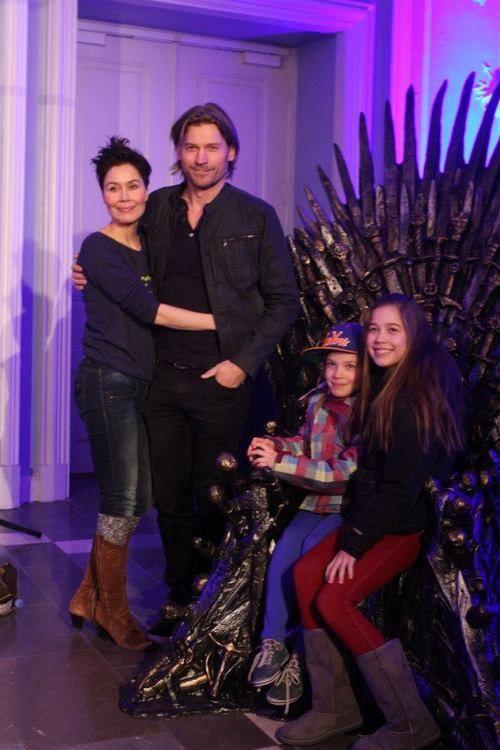 Nikolaj Coster-Waldau and family and throne