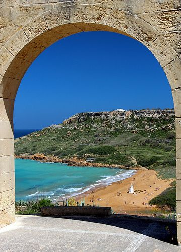 Ramla Bay, Gozo, Malta. Really, one of the nicest places I have ever been to - both Malta and Gozo are incredibly beautiful and so close to anywhere in Europe. A perfect mixture of north Africa, mediterranean and australian :)