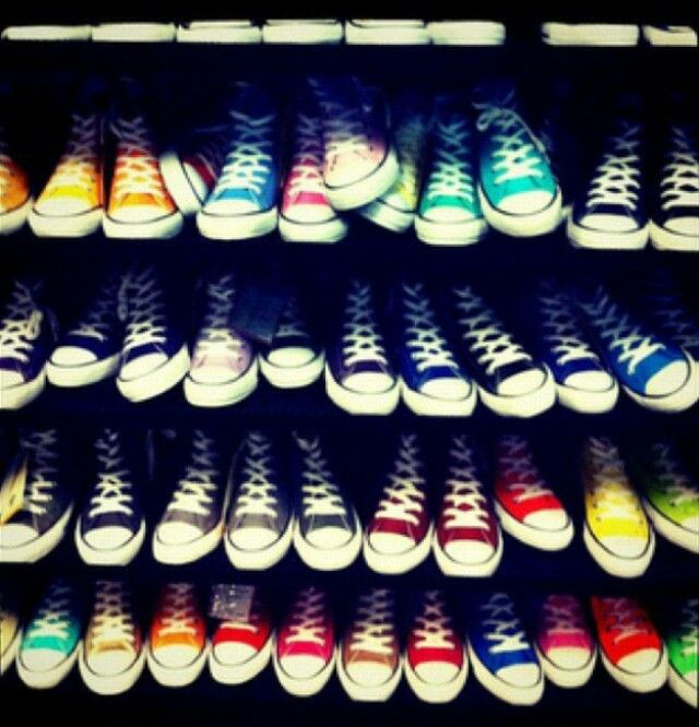 Converse - a pair of each color.  Yes, please!