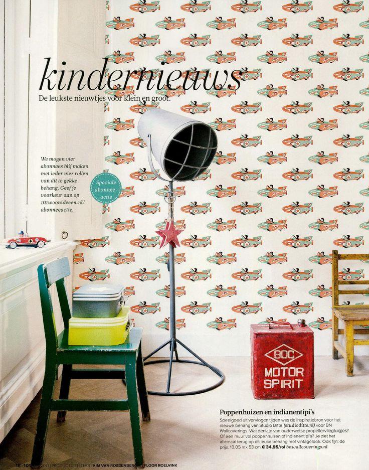Wallpaper / Behang Studio Ditte at 101 Woonideeen magazine - BN Wallcoverings