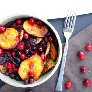 Cranberry Maple Roasted Roots