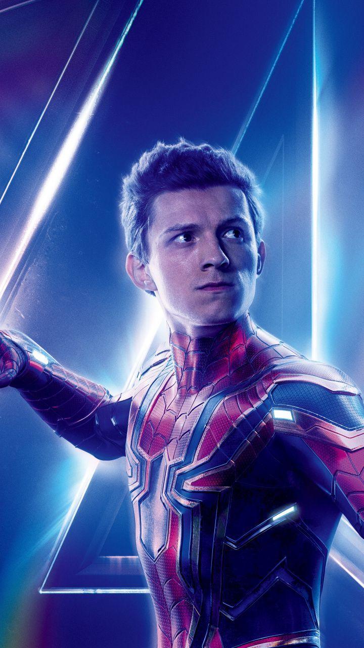 720×1280 wallpaper Avengers: infinity war, tom holland, spider-man, movie, 2018