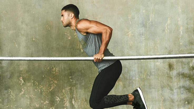 Ready to get ripped like a gymnast? Find yourself a set of parallel bars and get ready for a seriously tough ab move.