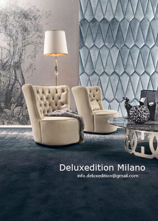 Deluxedition Milano, a new Italian brand, made its debut in 2014 at Salone del Mobile in Milan. A luxury of the past, with a look at the environments and at the fashion of the 40's and 50 ', inspires the new collection of Deluxedition. info.deluxedition@gmail.com