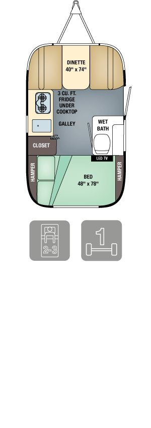 $45k ... Airstream Sport Floor Plans - Sport 16/ Airstream is a mini hotel on wheels. Most have gas burners, showers you can actually stand up in, and an ingenious amount of storage space. It's smooth to tow, with a retro interior that conjures up a first-class train cabin circa 1955.A good starter model is the 16-foot Bambi Sport, which can be pulled by a midsize SUV (from $30,000 used