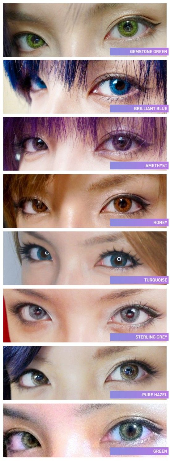 Freshlook Contact Lenses Color Chart!