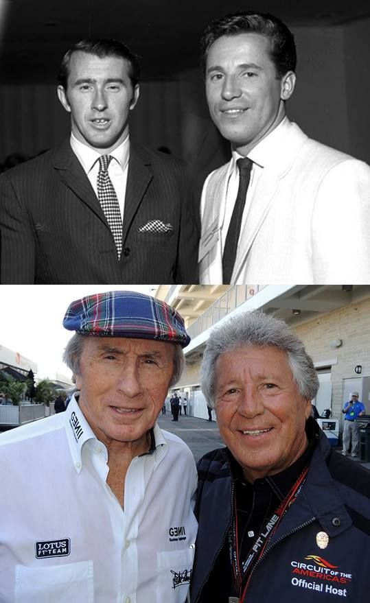 Mario Andretti with Jackie Stewart