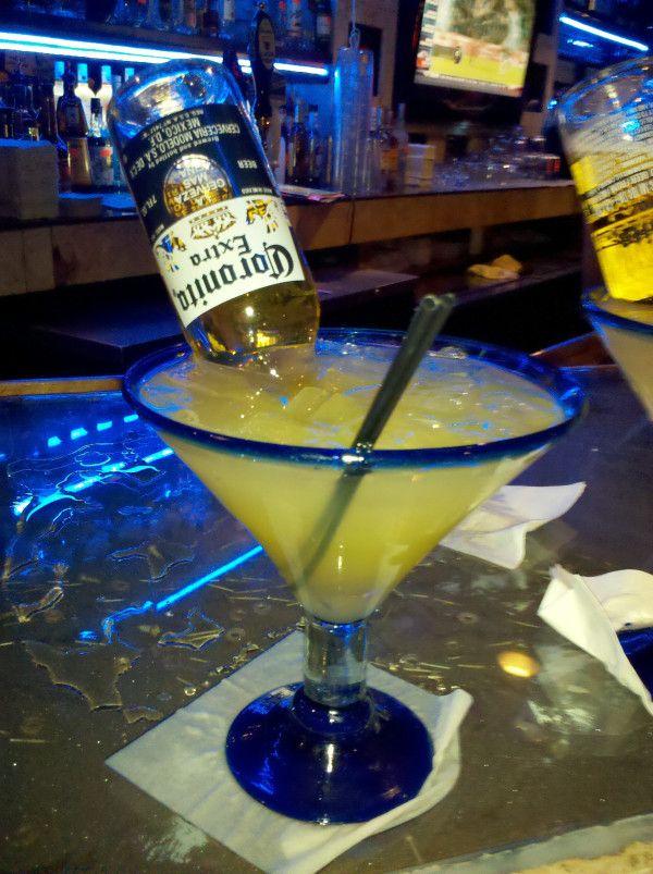 BEERGARITA (tequila-beer-frozen lemonade)