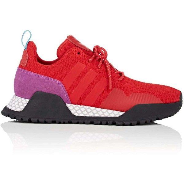 adidas Men's Men's AF/1.4 Primeknit Sneakers ($160) ❤ liked on Polyvore featuring men's fashion, men's shoes, men's sneakers, red, mens shoes, mens red shoes, mens red sneakers, mens low profile shoes and mens sneakers