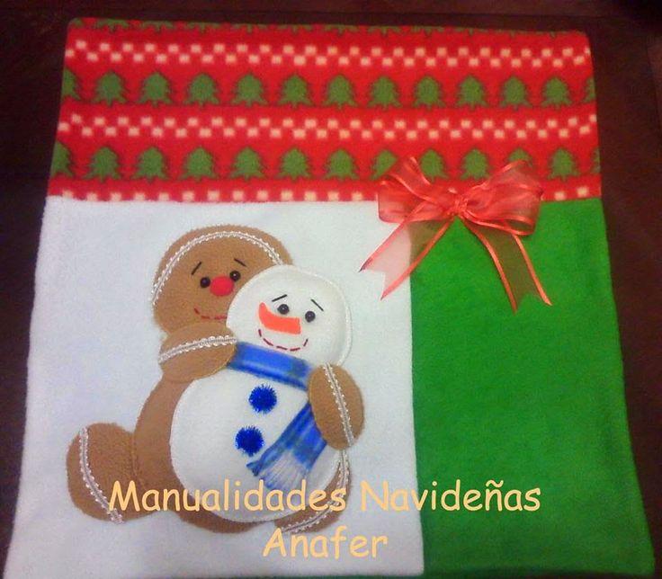 Manualidades Navideñas Anafer: Cojines navideños