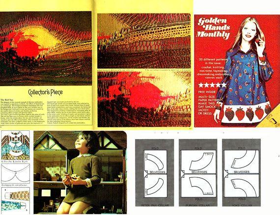 Vintage 1970s Golden Hands 26 Craft Magazine by TheAtticofKitsch