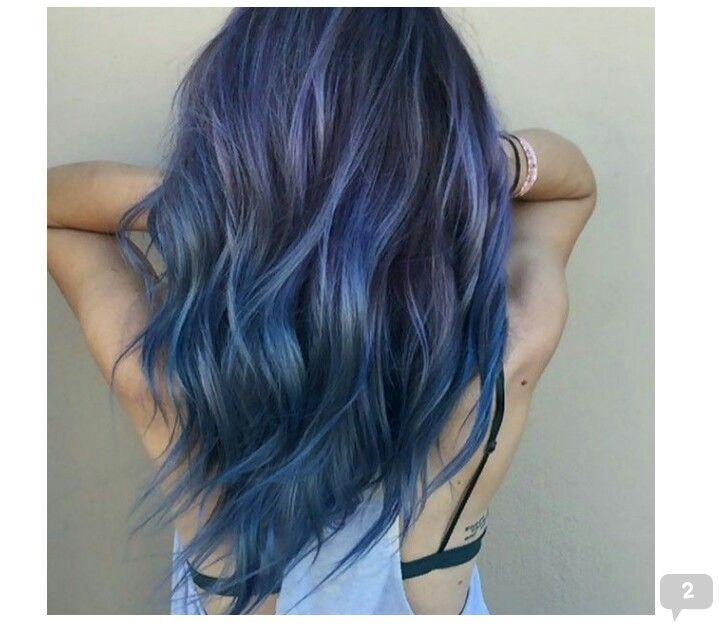 Pin By Steph On Hair Hair Styles Denim Hair Blue Hair