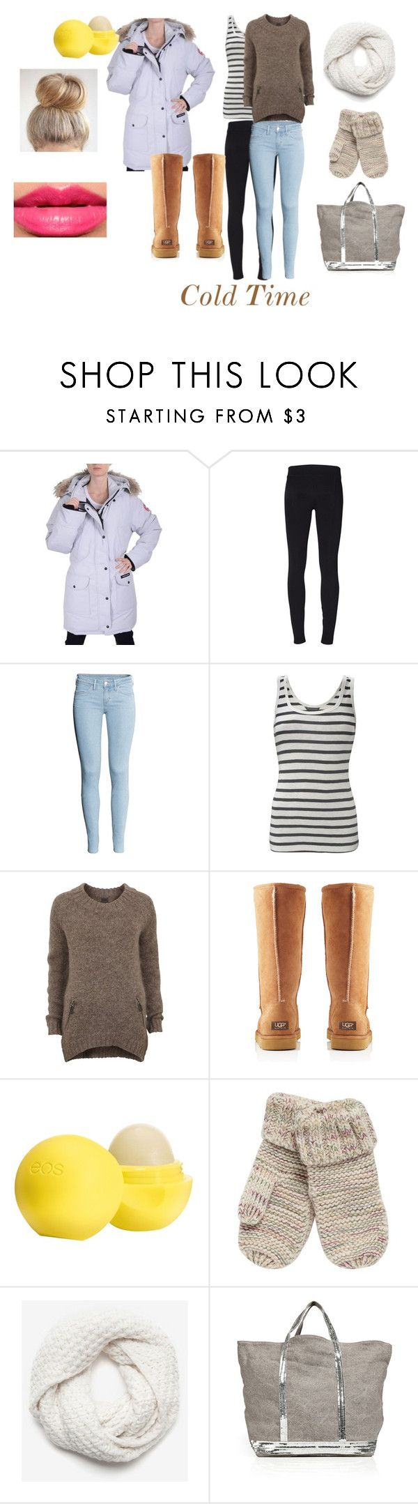 """""""Winter"""" by kabylou ❤ liked on Polyvore featuring Canada Goose, Helmut Lang, H&M, French Connection, Object Collectors Item, UGG Australia, Eos, Mantaray, Christopher Fischer and Vanessa Bruno"""