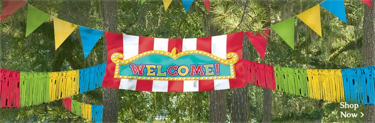 Carnival Welcome sign for entrance.