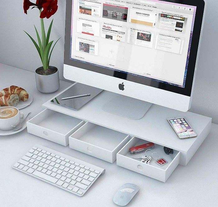 14 Desk Organizing Ideas That Will Get Your Clutter Under Control Desk Organization Office Desk Organization Small Office Desk