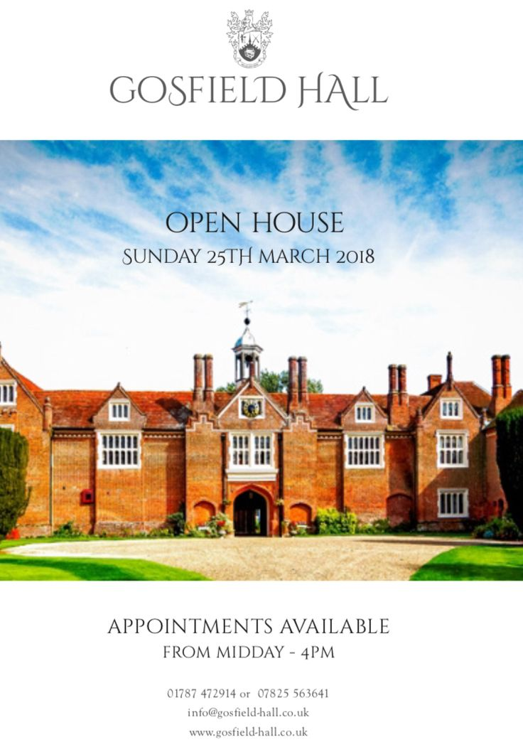 Gosfield Hall Open House
