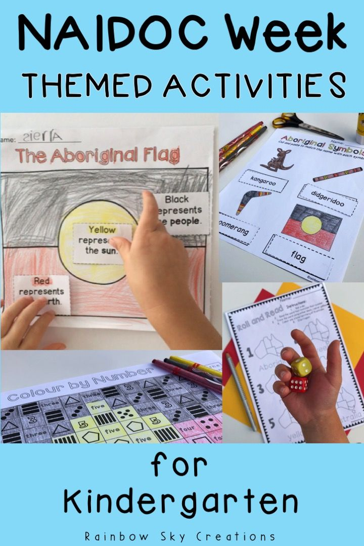 This pack of NAIDOC Week activities for kids will keep them engaged while learning. Teaching resources and lesson ideas are meaningful and suitable for students in Kindergarten. Teach children the meaning behind NAIDOC Week by celebrating the history, culture and achievements of Aboriginal and Torres Strait Islander people in Australia {prep, foundation, early years, homeschool} #rainbowskycreations