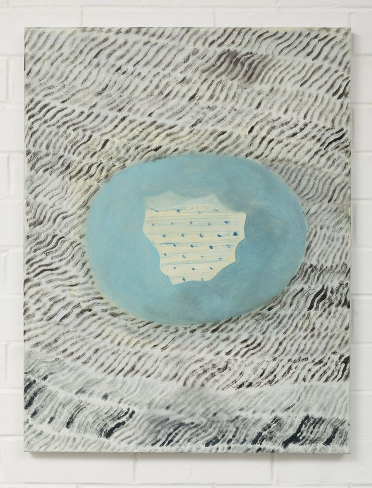Adrienne Vaughan, Chambray, 2014, Oil on paper, 660 x 500mm (framed dimensions)