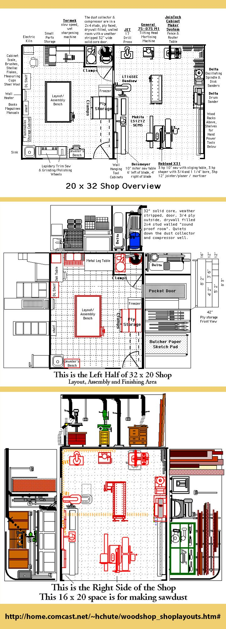 Woodworking shop floor plans woodworking projects plans for Shop design plans