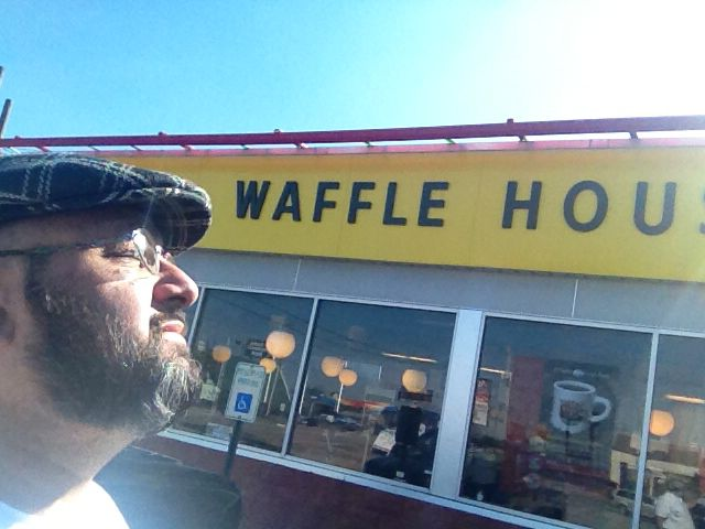 My two favorite things #Waffle House and the sun! #meditation #Happy