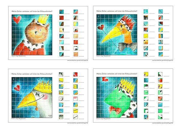 Zahlen bestimmen im Zahlenraum 100 - Rechnen in der Grundschule - bestimme die Zahlen in der Hundertertafel zum kostenlosen Download | Atelier BuntePunkt