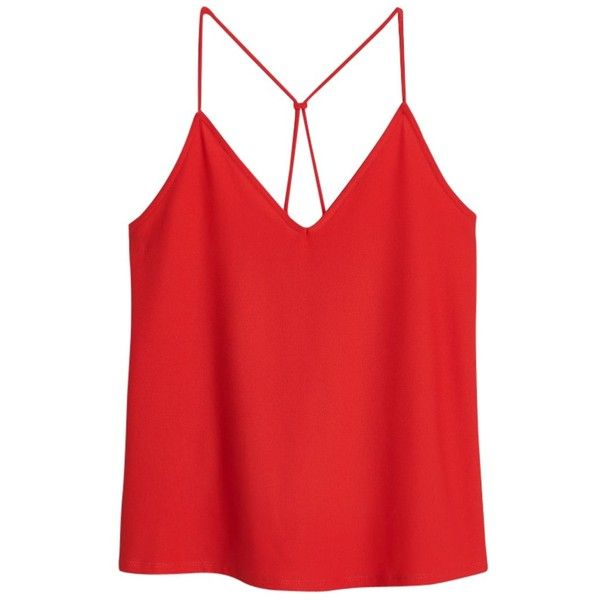 Mango Spaghetti Strap Top, Orange found on Polyvore