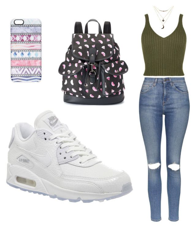"""""""Untitled #10"""" by sofia-delgado-sanchez on Polyvore featuring Topshop, NIKE, Casetify, Charlotte Russe and Candie's"""