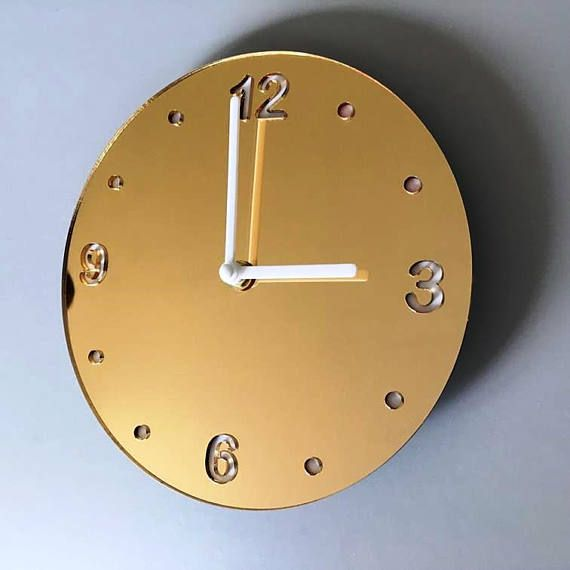 Hey, I found this really awesome Etsy listing at https://www.etsy.com/uk/listing/524838365/round-gold-mirror-white-clock-white