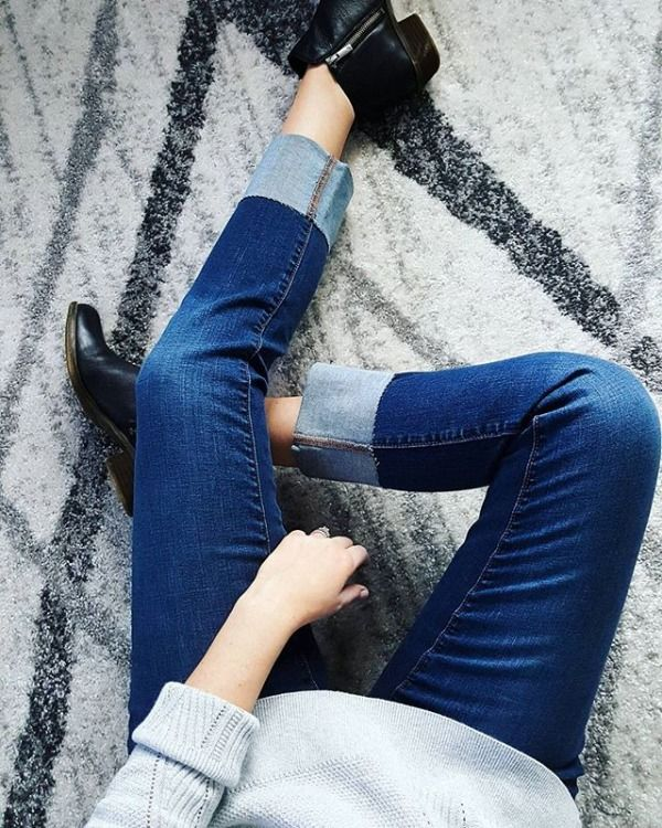 These cuffed jeans, definitely my new favorites! via @bronwynbutler