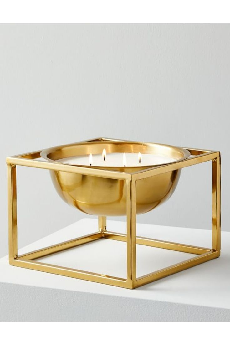 Gilded Basin Candle On Stand Rainwater Candle Diffuser