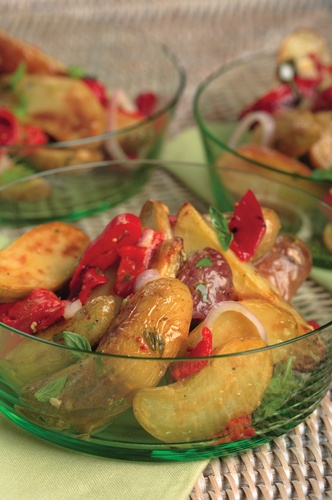 Roasted Red Pepper Recipes: Roasted Fingerling Potato Salad With Lemon ...