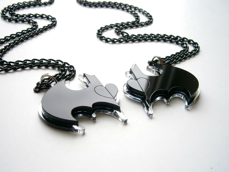 Batman Friendship Necklaces Laser cut jewelry, Inspiring Jewelry Friendship necklace wedding cufflinks, sale , geekery jewelry Best friends batman necklace