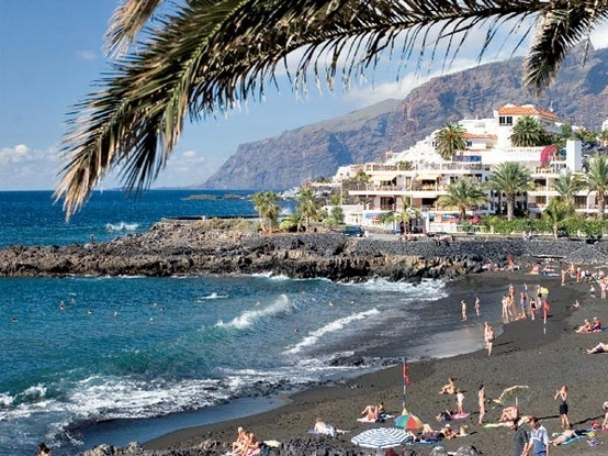 Tenerife- Beach nearby Los Christianos, went there too :)