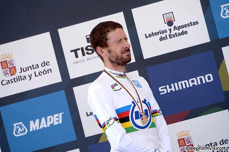 2014 road-cycling-world-championships - Bradley Wiggins (Great Britain) getting emotional