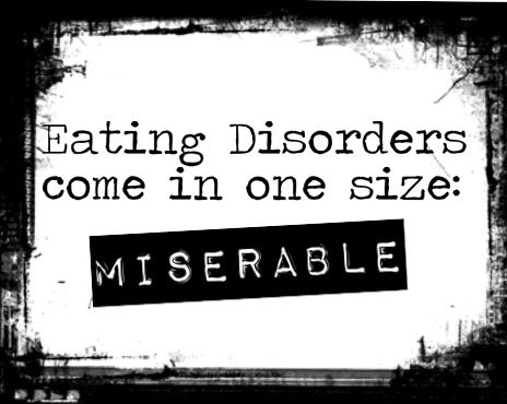 People with eating disorders are usually depressed. They are withdrawn from families and social activities. Their lives are completely consumed by their disorder.