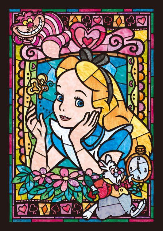 TEN-DSG266-750 ディズニー アリス ステンドグラス(不思議の国のアリス) 266ピース ステンドアートジグソーパズル