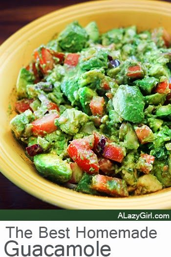 The Best Homemade Guacamole- Guacamole is so easy, even a Lazy Girl can throw it together and be the party hero.
