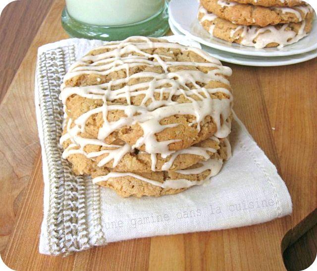 Maple-Glazed Oatmeal Cookies