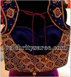 Velvet Customized Blouses   Saree Blouse Patterns