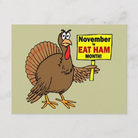 Funny Thanksgiving turkey Holiday Postcard | Zazzle.com in ...