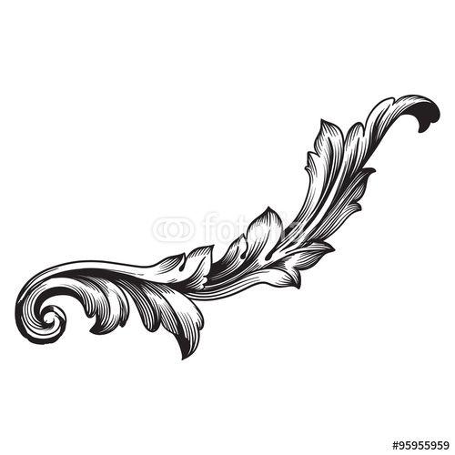 Vintage Scroll Design 119
