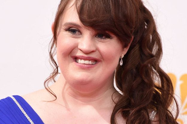 Brewer, who stars on FX's American Horror Story, strutted down the runway on Thursday in a chic AHS-inspired black dress by designer Carrie Hammer.   Meet The First Woman With Down Syndrome To Walk At Fashion Week