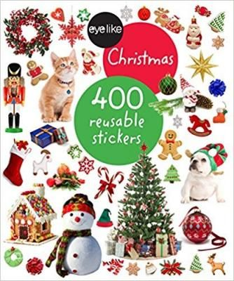 Eyelike Stickers: Christmas! Christmas celebrates the biggest holiday of the year with 400 high-quality, photographic images that are amazingly lifelike in color and detail. The durable, reusable stickers are designed to be stuck on and peeled off over and over again without losing adhesive. Ornaments and Santa hats, reindeer and an old-fashioned sleigh, trees to decorate, stockings to hang, presents to unwrap―every page of stickers captures the feeling of Christmas.
