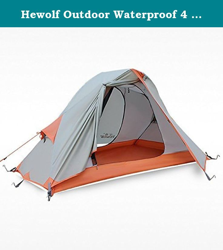 Hewolf Outdoor Waterproof 4 Seasons 1 Man Tent for Trekking Riding Hiking Camping Travel Khaki. Specification: Size: 6.9 x 4.3 x 3.6 feet (the narrow part wide is 2.7 feet) pack size: 18.5x 5.9 inches pole: 8.5mm aluminum alloy bottom: 210D oxford with PU coating waterproof 5000mm outer tent: 210T waterproof anti-tearing polyester with PU coating 4000mm inner tent: 190t breathable polyester with PU coating 1500mm weight: 2.25kg/5lb is it heavy or not as a 1 person tent with 5lbs weight? A...