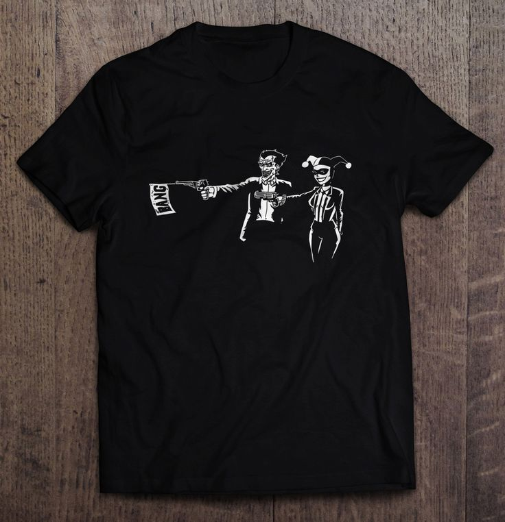 Joker And Harley Quin Pulp Fiction Parody T-Shirt